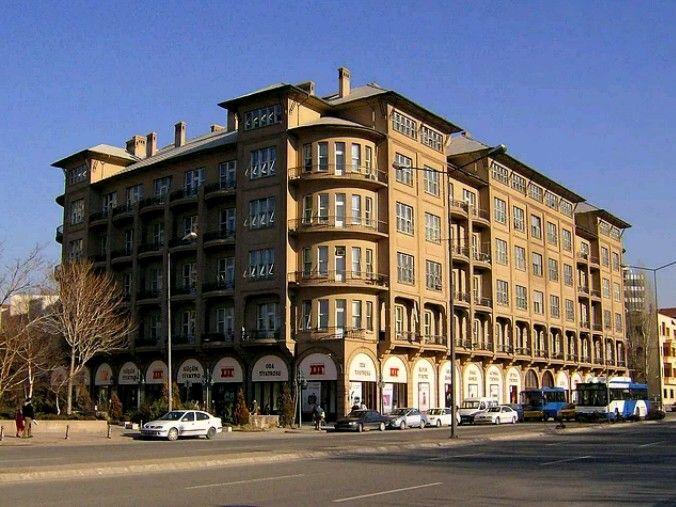 Ankara Evkaf Apartmanı-(Devlet Tiyatrosu merkezi)-Year Built: 1927-Architect: Mimar Kemalettin-Ankara-Turkiye