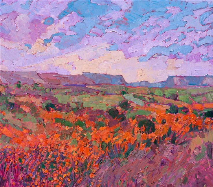 Cascade of Orange - Contemporary Impressionism | Landscape Oil Paintings for Sale by Erin Hanson