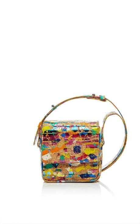 M'O Exclusive Rainbow Cork Harrison Cross Body Bag by Jill Haber for Preorder on Moda Operandi