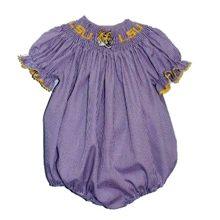 LSU Girls Smocked Bubble from Smocked Auctions | School ...