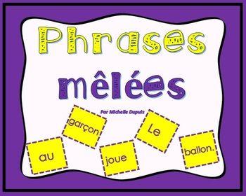 Ce produit permet de développer les concepts de base de la phrase tels que: - Majuscule au début de la phrase - Point à la fin de la phrase - Sens de la phrase