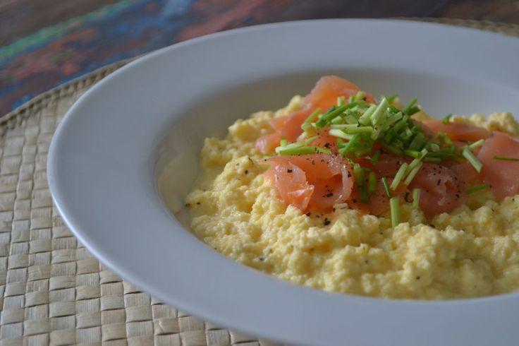 Roerei met zalm en/ of groentes