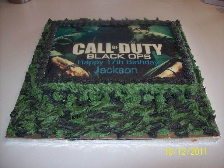 "Jackson's ""Call of Duty"" cake. Tasted nicer than it looked."