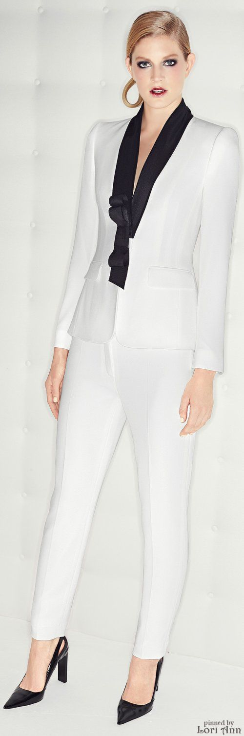 Except (sorry I'm not sorry Escada) I would wear black pants and her lipstick is cracked. Thanks. Pre-Fall 2015