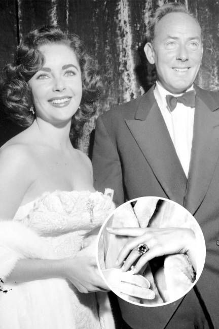 The Top 25 Celebrity Engagement Rings: Elizabeth Taylor and Michael Wilding's cabochon sapphire