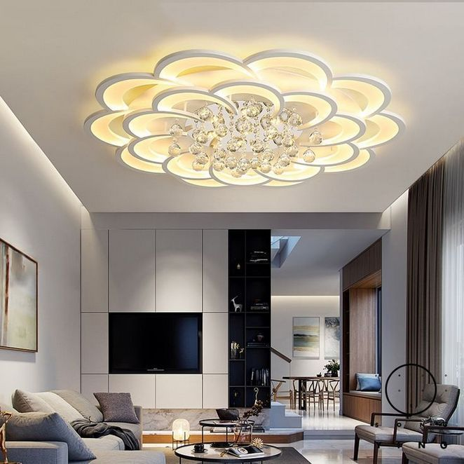 33 Things You Should Know About Creative Modern High Low Ceiling Living Room Chande Modern Led Ceiling Lights Ceiling Design Living Room Ceiling Design Modern Chandelier for low ceiling living room
