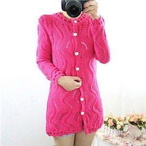 Hermosa chaqueta de punto, disponible en varios colores