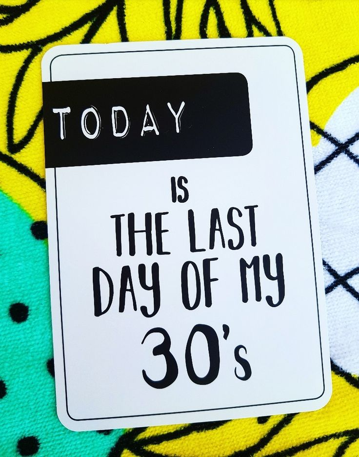 Milestones for your 30s. Today is the last day of my 30s! Life is a journey! share your ride!