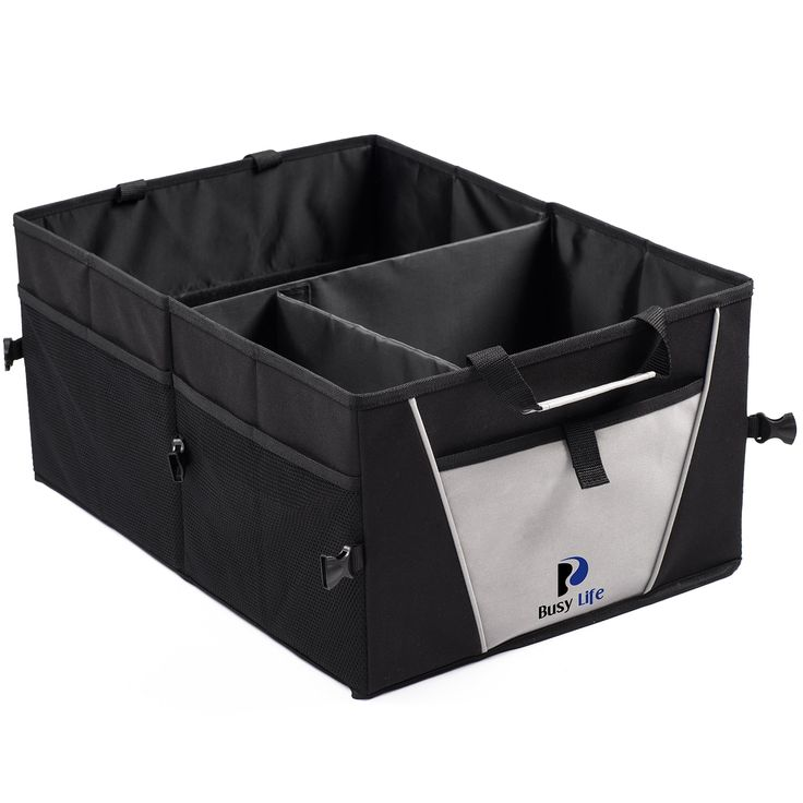 Premium Trunk Organizer by Busy Life - Highest Rated Car Organizer! Great Backseat Organizer for Car Truck or SUV. Sturdy Construction and Collapsible Design - Perfect Car Trunk Organizer for all Cargo. Enhance Your Travel Experience Today!
