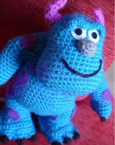 Mirtha Amigurumis: mi version de sullivan (monster inc) 18cm aprox