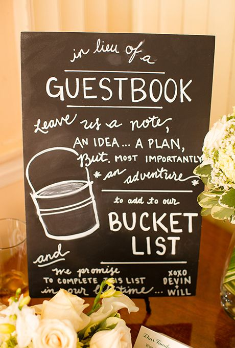 For adventure-seeking couples, ask guests to leave recommendations for your bucket list | Brides.com