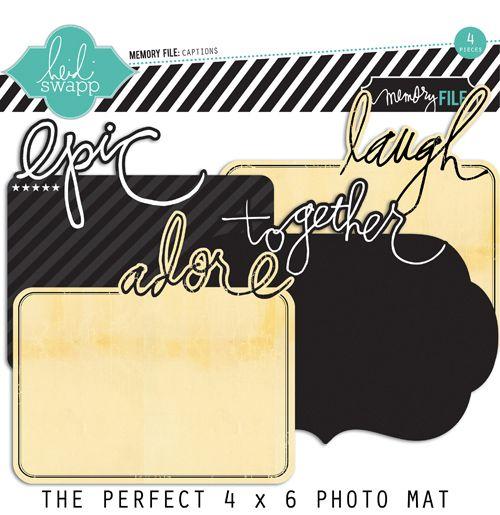 Heidi Swapp - Memory File Collection - Photo Captions - Cardstock Photo Mats at Scrapbook.com $3.99
