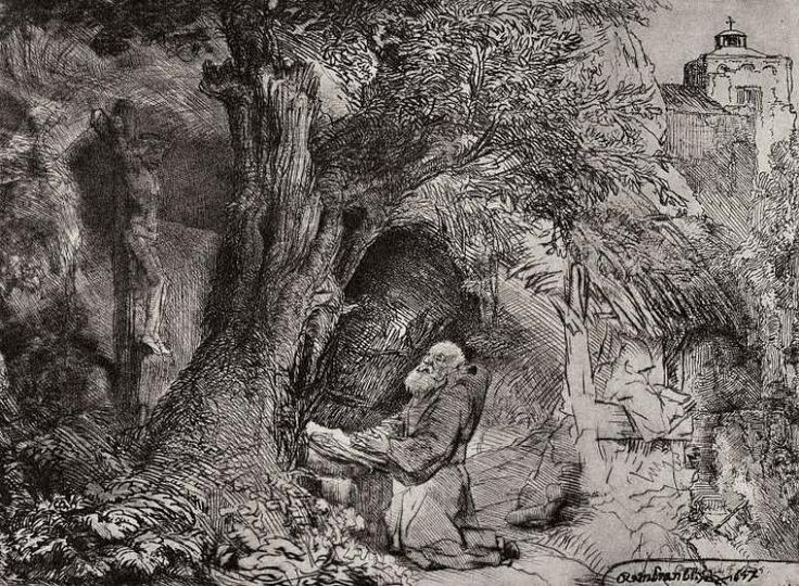 Святой Франциск - Рембрандт Ван Рейн