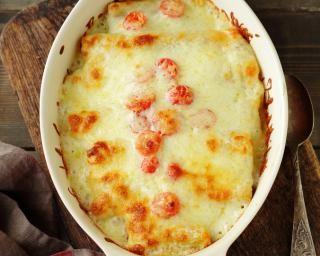 Lasagnes aux crevettes : http://www.fourchette-et-bikini.fr/recettes/recettes-minceur/lasagnes-aux-crevettes.html