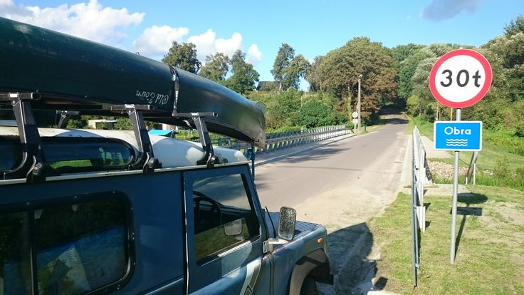 Land Rover (Defender) 90 and Old Town canoe in Poland.