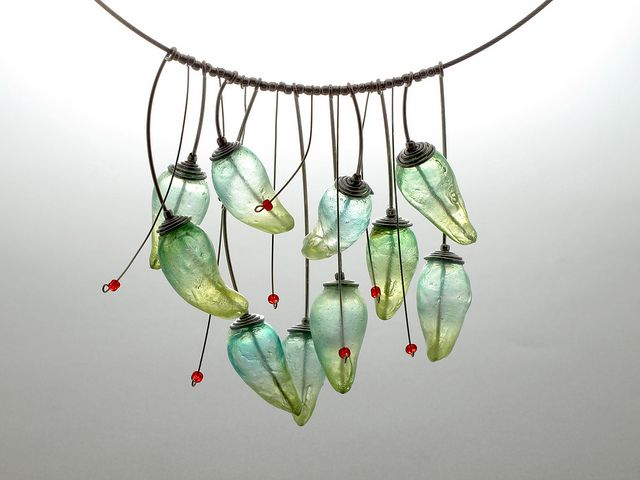 necklace Pepper | Made from Fimo Liquid, this necklace by Kathrin Neumaier will be on the cover of the Fall 2013 issue of The Polymer Arts