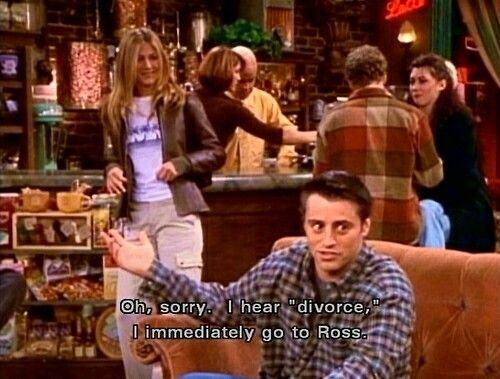 Ross' divorced men's club