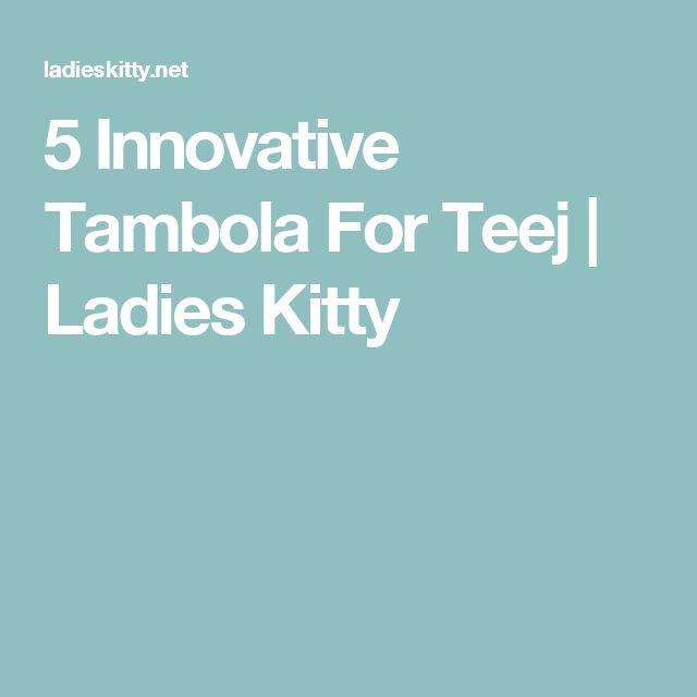 5 Innovative Tambola For Teej | Ladies Kitty