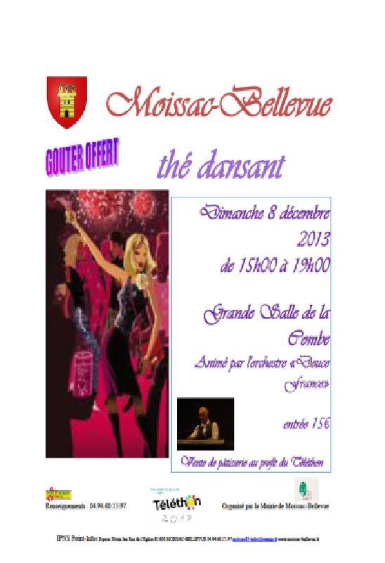 bonsoir,programme des festivités a moissac bellevue en Décembre à Moissac-Bellevue Dimanche 8 :15h00 Grande Salle de la Combe: Thé dansant r...