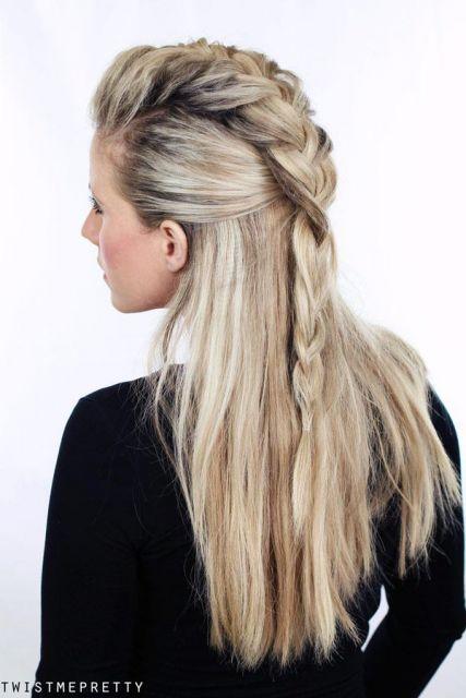 Penteados Viking Feminino 4 Tran 231 As Em 2019 Penteados