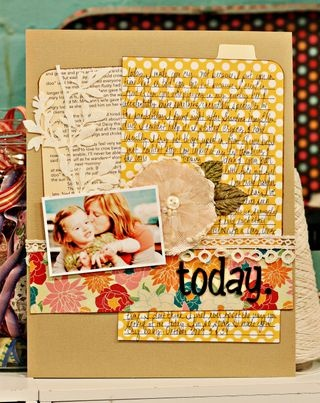 """""""today"""" journaling inspired layout"""