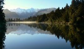 Le mont Cook depuis la lac Matheson