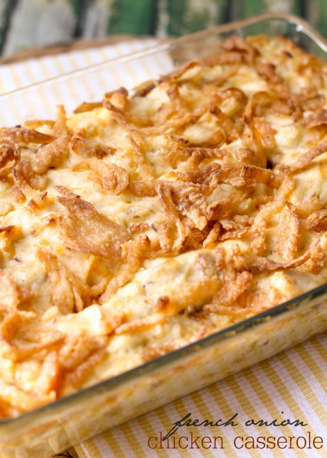 A simple and delicious recipe for French Onion Chicken Casserole - just 10 minute prep time and you have a delicious dinner recipe! { lilluna.com }