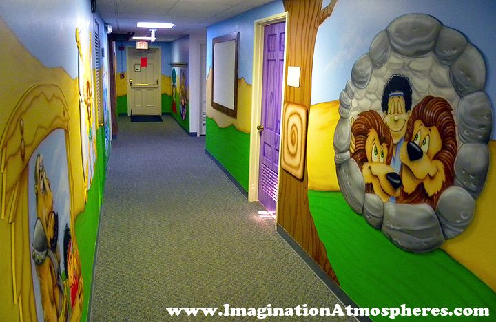 Church Bible Story Murals for Kids. www.ImaginationAtmospheres.com