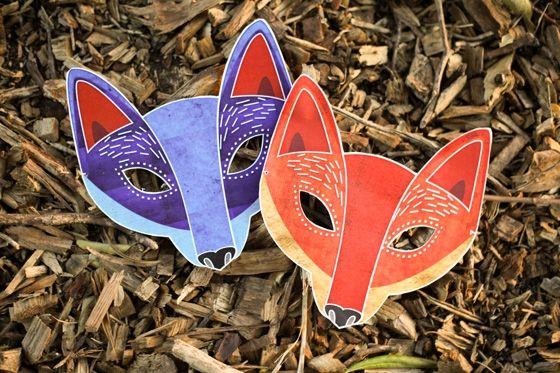 Free printable for Fantastic Fox Mask