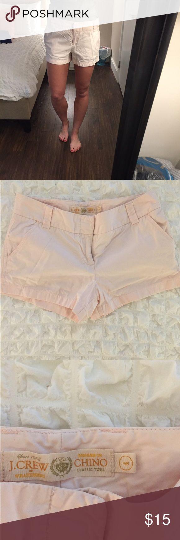 J Crew light pink chino shorts • size 4 Light pink shorts J. Crew Shorts