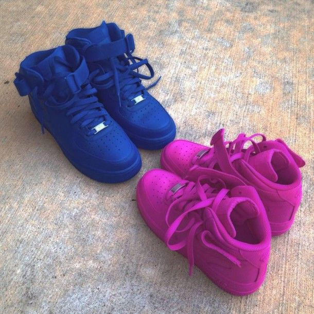 shoes purple air max sneakers nike sneakers blue nike air high top sneaker high top air force ones nike air force 1