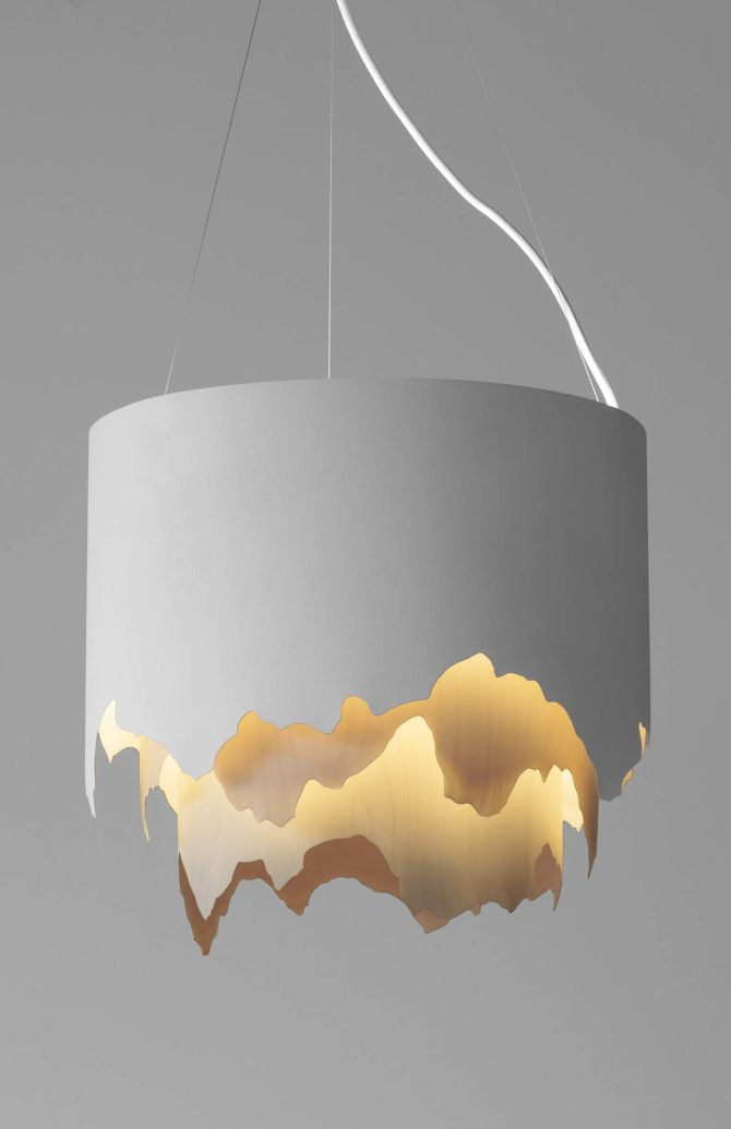 Aava - Aava is a lamp for spaces that really could use some of the Nordic nature calmness. It's design reminds of mountains and northern lights – as it's made with the tought of the nature, wood and all organing around us. It uses circular fluorescent lamp as a light source around the wooden structure with the hollow center, which makes the light soft and alluring. --- seen on: NEO-FUNKKIS