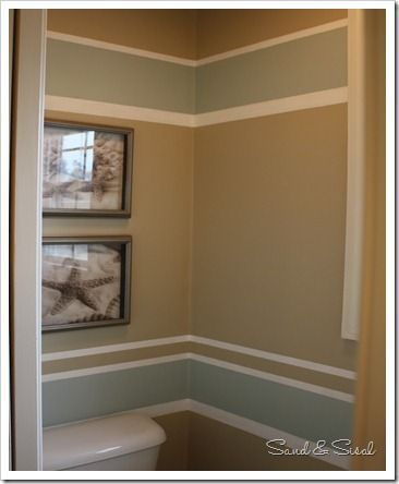 How to Paint Stripes- easily! Transform any boring room with a bit of tape & paint! www.sandandsisal.com