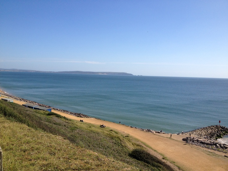 View of Isle of Wight from Barton-on-Sea, UK