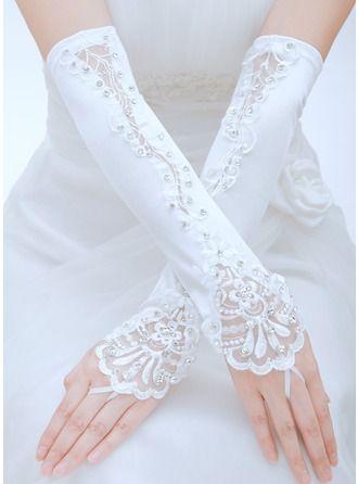 Satin Opera Length Bridal Gloves