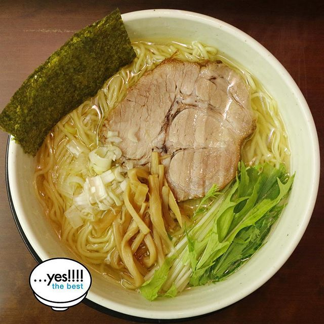 …yes! Simple and beautiful salt ramen. Chicken-based soup is delicious best. The balance of noodles and toppings great.   #ramen