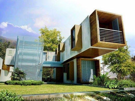 EL MUNDO DEL RECICLAJE: Casas hechas con contenedores
