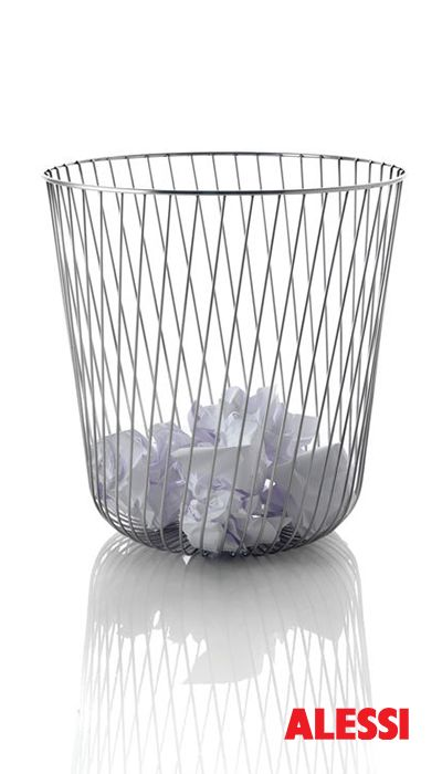A tempo - wire paper basket, Pauline Deltour, 2010 #alessi #design #office