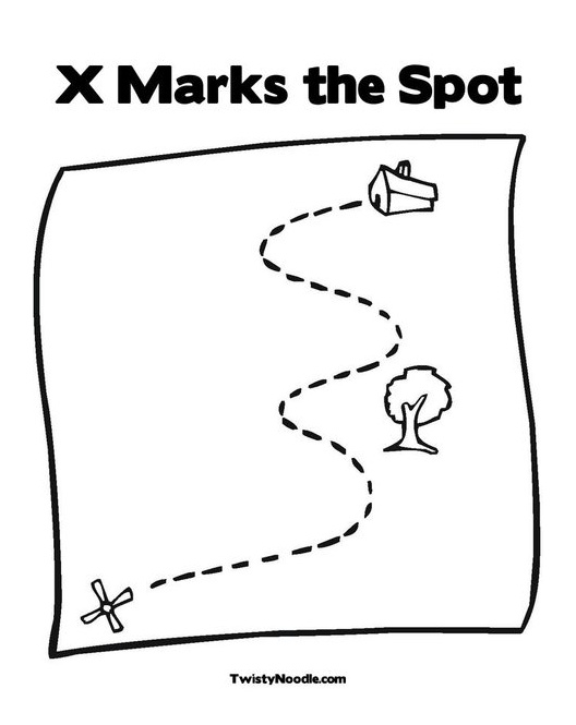 x marks the spot coloring pages - photo #2