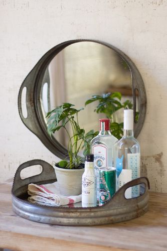 Versitile Metal Serving Tray Mirror 78 00 Enchanted Cottage Shop Online Home Store For