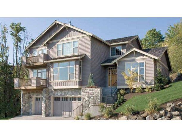 18 best house plans images on pinterest home plans for Hillside home plans walkout basement