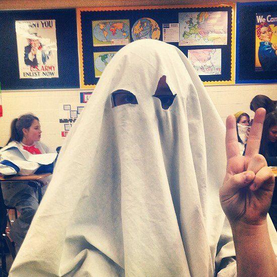 Last-minute #Halloween costume idea: Ghost