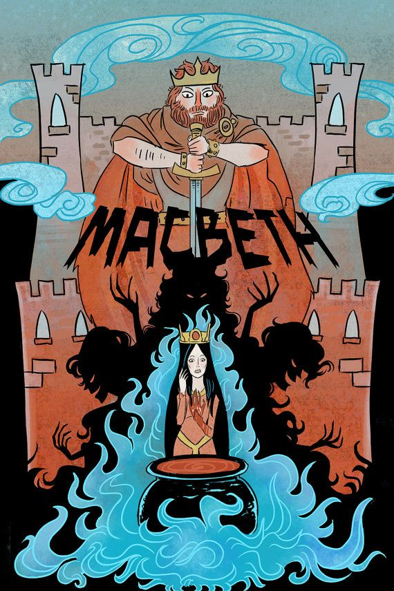 The Scottish Play  8x12 Macbeth literature mini by theGorgonist, $12.00