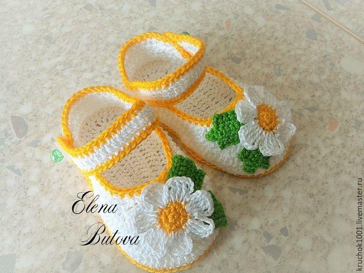 Купить Пинетки-туфельки - однотонный, пинетки, пинетки для новорожденных, пинетки для девочки, пинетки в подарок