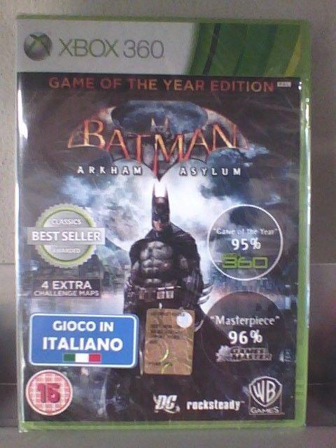 Batman Arkham Asylum GOTY  XBOX 360  nuovo!!!
