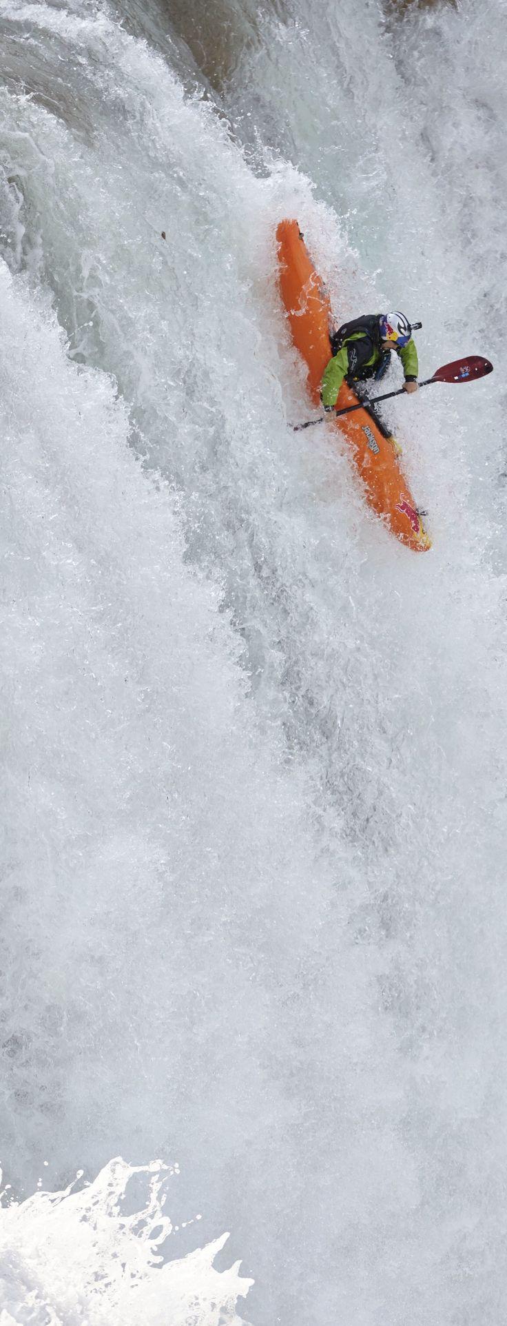 Chasing waterfalls http://win.gs/1by7LUt #kayak #adventure #waterfall Image: Alfredo Martinez/Red Bull Content Pool