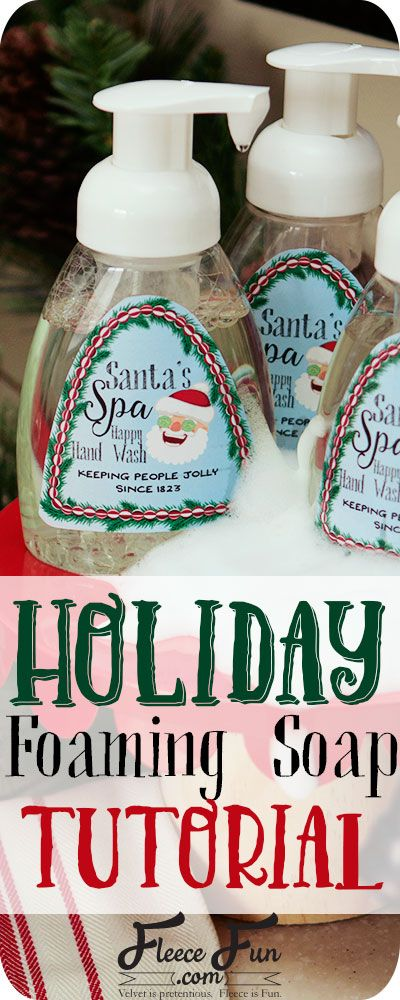 I love this easy to follow tutorial on how to make homemade foaming soap. Great holiday gift DIY idea.
