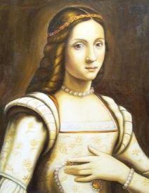 Clarice de' Medici (1493-1528).  Daughter of Piero di Medici and Alfonsina Orsini. Niece of Pope Leo X and sister to Lorenzo II de Medici. Granddaughter of Lorenzo de Medici.  Educated Catherine, the future Queen of France