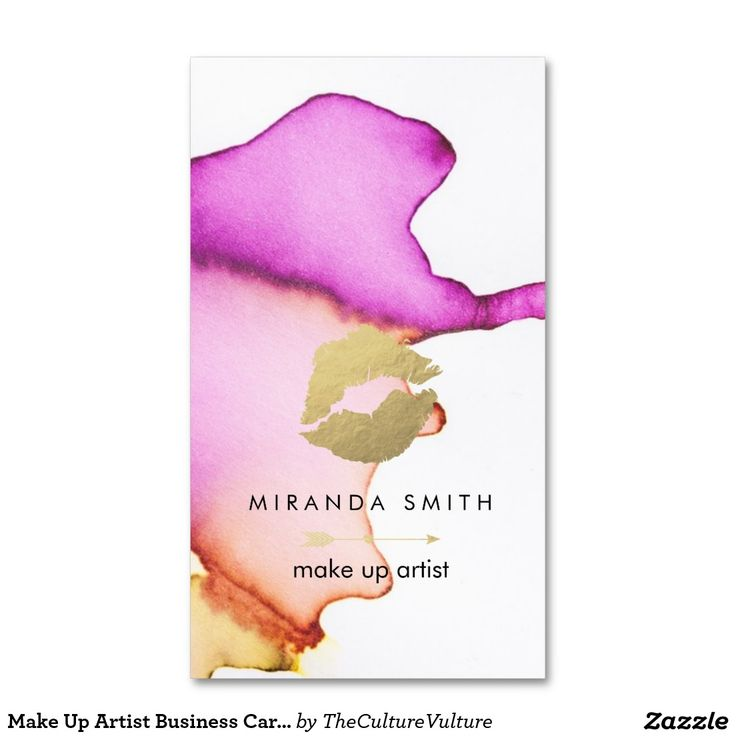 Make Up Artist Business Card - Chic Watercolor