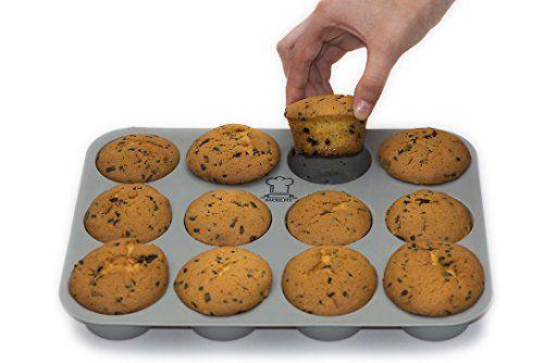 BackeFix - Silikon Muffinblech - einfach zufrieden sein ? ohne Fett und Papier backen ? beliebtestes Silikon Muffinform ? Antihaft-Beschichtung | 2 Jahre Garantie | Silikon Muffinform (12er)